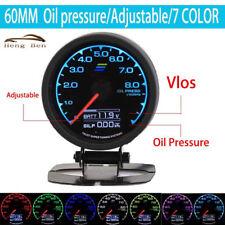 60mm 7 Color in 1 Racing Multi D/A LCD Digital Display Oil Press Gauge 2.5 Inch
