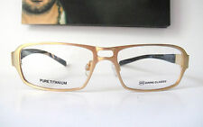 Gimme Glasses Beta Titanium 52-15 Swiss Gold Eyeglass Frames Specs Mens Glasses