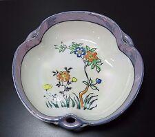 """Lusterware Hand Painted Flower Vtg Bowl Trinket Dish Art Pottery Japan 5 1/4"""""""
