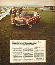 Publicité Advertising 1974  MERCEDES Diesel 240 D