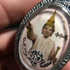 Beautiful Thep Tunjai Angel Pagoda Myanmar Amulet Luck Rich Success Protect