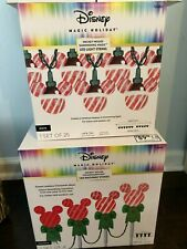 NEW Disney MICKEY MOUSE Christmas LED PATHWAY STAKES & SHIMMERING  LIGHT STRING