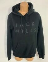 WOMENS JACK WILLS NAVY BLUE CASUAL HOODED PULLOVER SWEATER JUMPER TOP SIZE UK 6