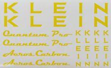 KLEIN Quantum Pro Paint Mask Vinyl ~ Frame, Aeros Carbon Fork, Headbadge Vinyl