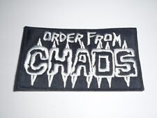 ORDER FROM CHAOS EMBROIDERED PATCH
