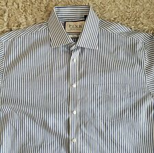 Thomas Pink Classic Fit Non-Iron Striped Long Sleeve Dress Shirt Size 17- 35