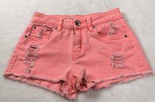 Dollhouse Women's Size 2 Short Shorts Distressed High Waist Neon Booty Shorts