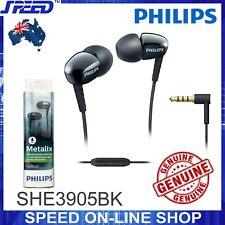 PHILIPS SHE3905BK Headphones Earphones with Mic - Rich Bass - BLACK - GENUINE