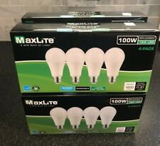 96 - Maxlite Dimmable LED Daylight Light Bulb 15-Watt 100 Watt replacement 5000k