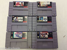 Super Nintendo Sports Cart Only Lot Of 6! Madden! Baseball! More! Tested! Works!