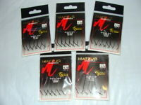 100 Matzuo 110060 Red Extra Wide Gap Worm Fish Fishing Hooks size 2//0