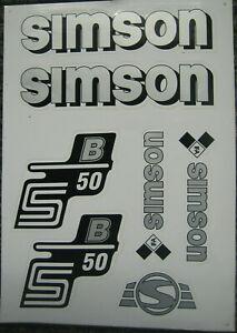 Aufkleber Set  S50 B  Seitendeckel / Tank silber