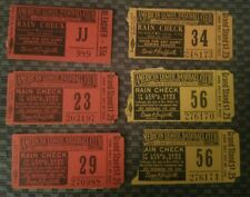New Listing6 Vintage 1941 - 1955 Washington Senators Ticket Stubs - Clark Griffith Stadium