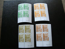 MONACO - timbre yvert et tellier preoblitere n° 50 a 53 x4 n** (Z9) (coin date)A
