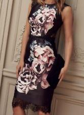 Lipsy Vip Black Floral Lace Dress