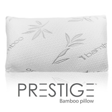 Bamboo Hypoallergenic Pillow Memory Foam Stay Cool Removable -Queen