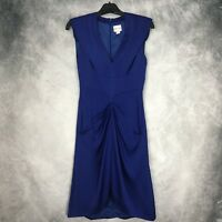 Reiss Dark Blue Fitted Wiggle Dress UK Size 6 Occasion Cruise Wedding Party
