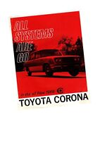 1966 Toyota CORONA Brochure / Catalog / Flyer / Pamphlet