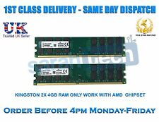 Kingston 8GB 2x4GB DDR2 800MHz 240PIN PC2-6400 AMD CPU Motherboard Memory RAM