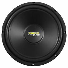 "Coustic By MTX C124 12"" 500 Watt Car Audio Subwoofer, High Performance 4-Ohm Sub"