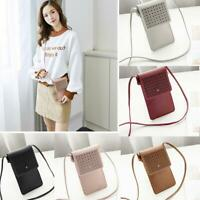 Women Wallet Purse Leather Coin Cell Phone Cross-body Shoulder Touch Screen Bag