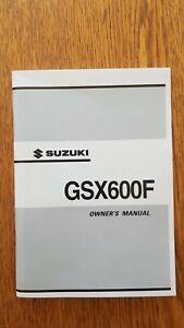2003 SUZUKI GSX600F K3  GENUINE HANDBOOK
