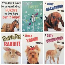 Garden Gate Door Sign ,gone Fishing,Dachshund,rabbit,horses,chihuahua,(F5)