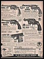 1955 COLT 1917 New Service SMITH & WESSON Military STREBCO Big Bear Revolver AD