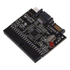 Bidireccional SATA Serial ATA a IDE Convertidor Adaptador Rojo Negro Y8I7