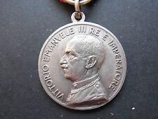 Italien Italia MEDAGLIA VITTORIO EMANUELE III RE E IMPERATORE Silber