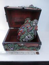 Davy Jones Heart in Small Sunken Treasure Chest OOAK Halloween Pirate LARP POTC
