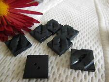 lot 8  boutons anciens  bleu foncé carré diamètre : 1,4 cm Ref 320