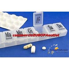 PORTAPILLOLE SETTIMANALE BOX TASCABILE MEDICINE  CAJA DE PILDORAS PORT PILLS