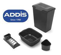 Addis Essentials 40L Lift Top Bin Washing Up Bowl Cutlery Caddy Dish Drainer Set