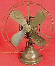 """Antique GE Fan 9"""" Cast Iron 3-Speed Oscillating Fan - 4 Restore"""