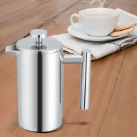 350ML Doppelwandig Edelstahl Kaffeebereiter French Press Kaffeekanne mit Filter