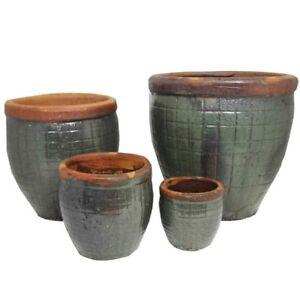 51cm CLEARANCE Green Chinese Yakuta Water Jar Fuzhou Garden Planter/Pot