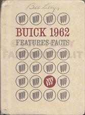 1962 Buick Facts Book Dealer Album Skylark Special Electra LeSabre Invicta Data