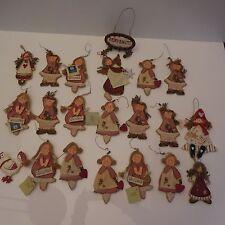 21 sujets LA GALLERIA Belgique fait main handmade vintage XXème