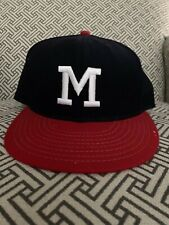 Vintage Milwaukee Braves ANNCO Fitted Baseball Hat Cap 100% Wool 7 3/8 USA Made
