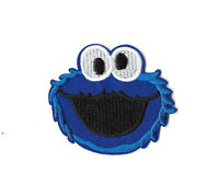 COOKIE MONSTER Iron on / Sew on Patch Embroidered Badge Sesame Street TV PT24