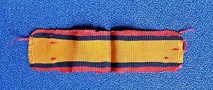 Original Boer War Queen's South Africa QSA Medal Silk Ribbon