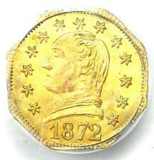 1872 Washington California Gold Quarter 25C Coin BG-722. PCGS MS64 - $2500 Value