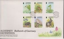 GB ALDERNEY 1994 Flora & Fauna Definitives 1p 20p SG A60/71 FDC INSECTS ANIMALS