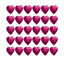 100 CADBURY CHOCOLATE HOT PINK HEARTS-WEDDING FAVOURS BABY GIRL SHOWER PARTIES