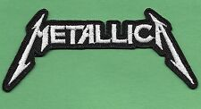"New Metallica ' White' 2 X 4 1/2 "" Inch Iron on Patch Free Shipping"