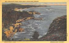 Otter Rock Oregon~View South From Otter Crest~1940 Postcard