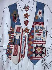AMERICANA PATRIOTIC VEST SEWING PANEL PATTERN CRANSTON DREAMSPINNERS VIP ADULT