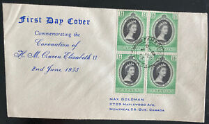1953 Cyprus First Day Cover QE II Queen Elizabeth coronation To Canada