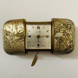 "Vintage ""Europa"" Sliding Alarm Clock in Fish Design | 7 Jewel Works"